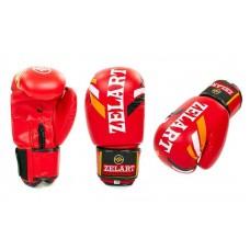 Перчатки боксерские FLEX на липучке ZRZB-4276-R. Рукавички боксерські