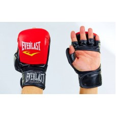 Перчатки гибридные для единоборств MMA  4612RBK. Рукавички для MMA