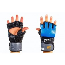 """Перчатки для смешанных единоборств ММА кожаные """"MATSA"""". Рукавички для єдиноборств"""