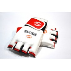 Перчатки для рукопашного боя. Материал кожа. M белый.