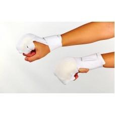 Накладки (перчатки) для каратэ MFT-1041B (PL, хлопок, эластан, р-р S-XL, белый, манжет на резинке)