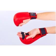 Перчатки для каратэ ZEL ZB-4007-R (PU, р-р S-XL, красный, манжет на резинке) ZRZB-4007-R