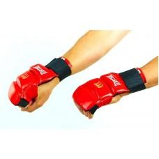 Перчатки для каратэ кожаные MATSA MA-1804-R (р-р S-XL, красный, манжет на резинке)
