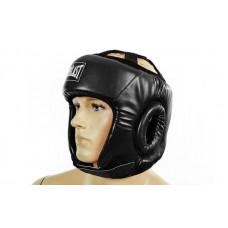 Шлем боксерский открытый PU ELAST BO-4493-BK (черный, р-р S-L)
