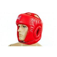 Шлем боксерский открытый PU ELAST BO-4493-R (красный, р-р S-L)
