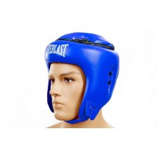 Шлем боксерский открытый с усиленной защитой макушки FLEX ELAST VL-8206-B (синий, р-р M-XL)