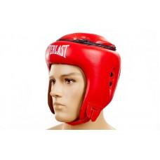 Шлем боксерский открытый с усиленной защитой макушки FLEX ELAST VL-8206-R (красный, р-р M-XL)