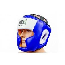 Шлем боксерский с полной защитой FLEX ELAST VL-8207-B (синий, р-р L-XL)