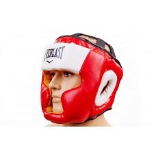 Шлем боксерский с полной защитой FLEX ELAST VL-8207-R (красный, р-р M-XL)