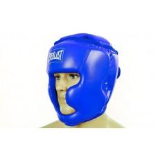 Шлем боксерский с полной защитой PU ELAST BO-4299-B (синий, р-р S-L)