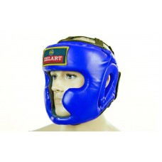 Шлем боксерский с полной защитой PU ZEL ZB-5207-B (синий, р-р M-XL)