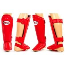Защита ног для MMA кожаная TWINS. Захист для ніг