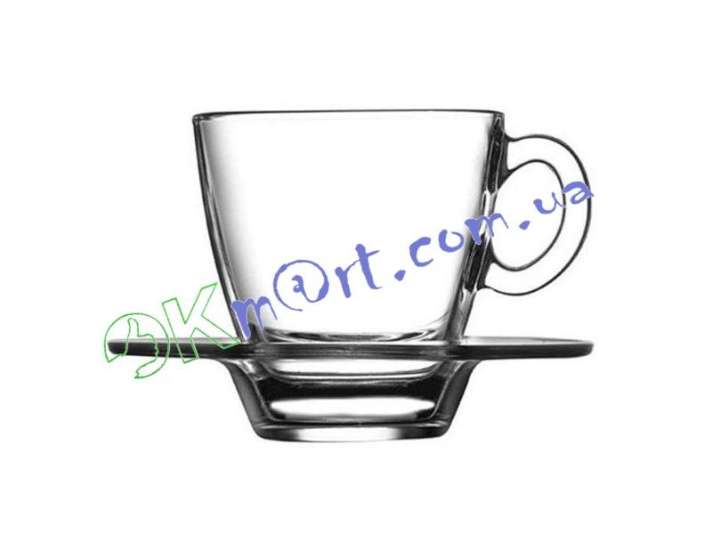 Чашка с блюдцем Pasabahce AQUA 95756